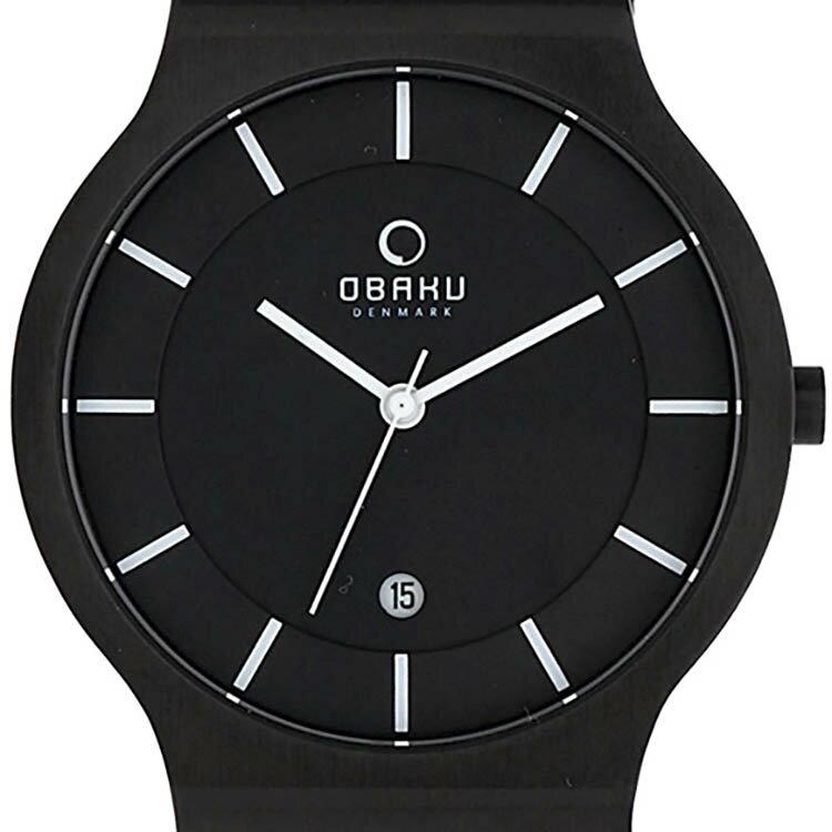 【ポイント10倍】【残り1点】OBAKU オバック クォーツ 腕時計 デンマーク シンプル 薄型 ファッション [V123GBBMB] 並行輸入品 純正ケース メーカー保証
