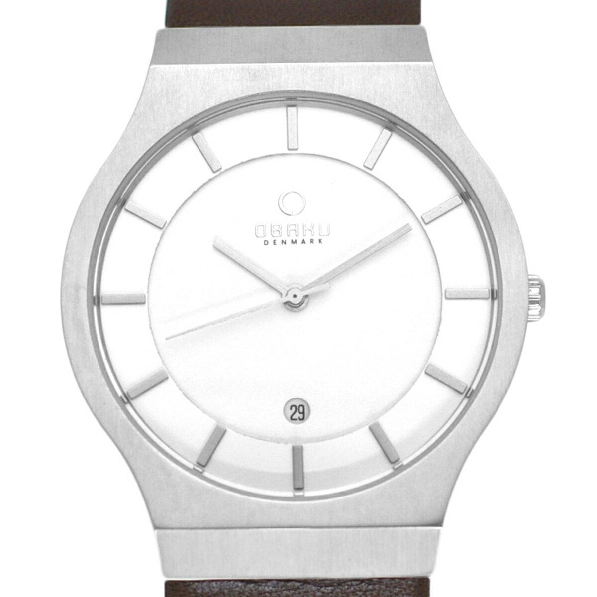 【ポイント10倍】【残り1点】OBAKU オバック クォーツ 腕時計 デンマーク シンプル 薄型 ファッション [V123GCIRN] 並行輸入品 純正ケース メーカー保証