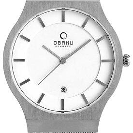 OBAKU オバック クォーツ 腕時計 デンマーク シンプル 薄型 ファッション [V123GDCIMC] 並行輸入品 純正ケース メーカー保証