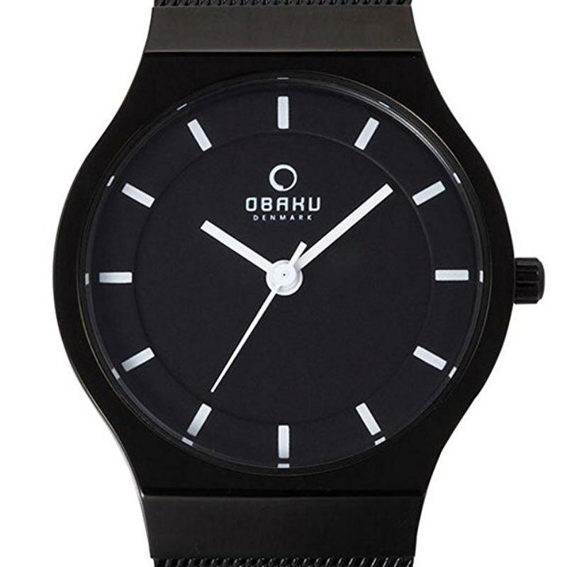 【ポイント10倍】【残り1点】OBAKU オバック クォーツ 腕時計 デンマーク シンプル 薄型 ファッション [V123LBBMB] 並行輸入品 純正ケース メーカー保証
