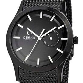OBAKU オバック クォーツ 腕時計 腕時計 メンズ [V124GBBMB] 並行輸入品 純正ケース メーカー保証