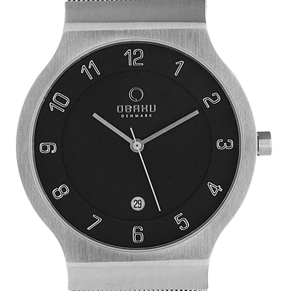 【ポイント10倍】【残り1点】OBAKU オバック クォーツ 腕時計 デンマーク シンプル 薄型 ファッション [V133GCBMC1] 並行輸入品 純正ケース メーカー保証