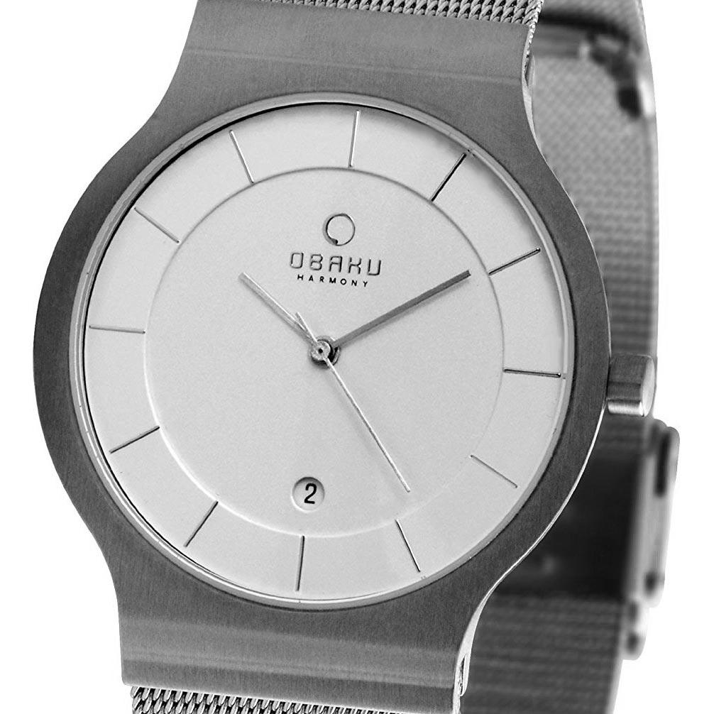 【ポイント10倍】【残り1点】OBAKU オバック クォーツ 腕時計 デンマーク シンプル 薄型 ファッション [V133GCIMC] 並行輸入品 純正ケース メーカー保証