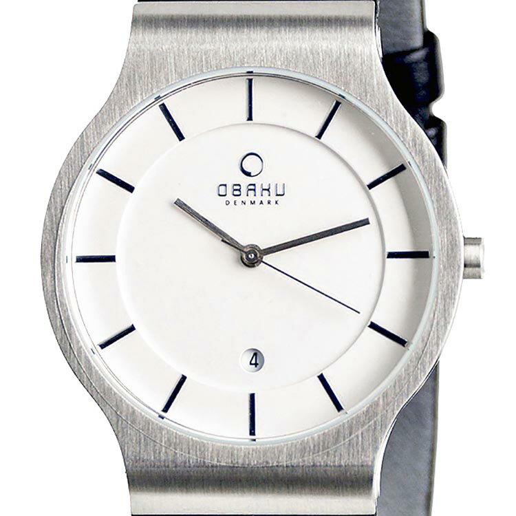 【ポイント10倍】OBAKU オバック クォーツ 腕時計 デンマーク シンプル 薄型 ファッション [V133GCIRB1] 並行輸入品 純正ケース メーカー保証