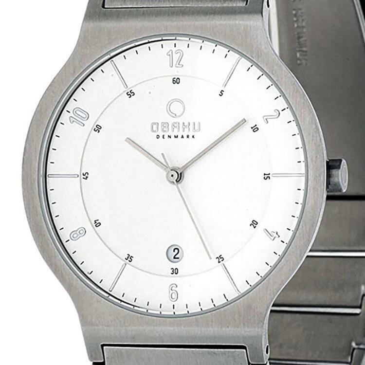 【ポイント10倍】【残り1点】OBAKU オバック クォーツ 腕時計 デンマーク シンプル 薄型 ファッション [V133GCISC] 並行輸入品 純正ケース メーカー保証