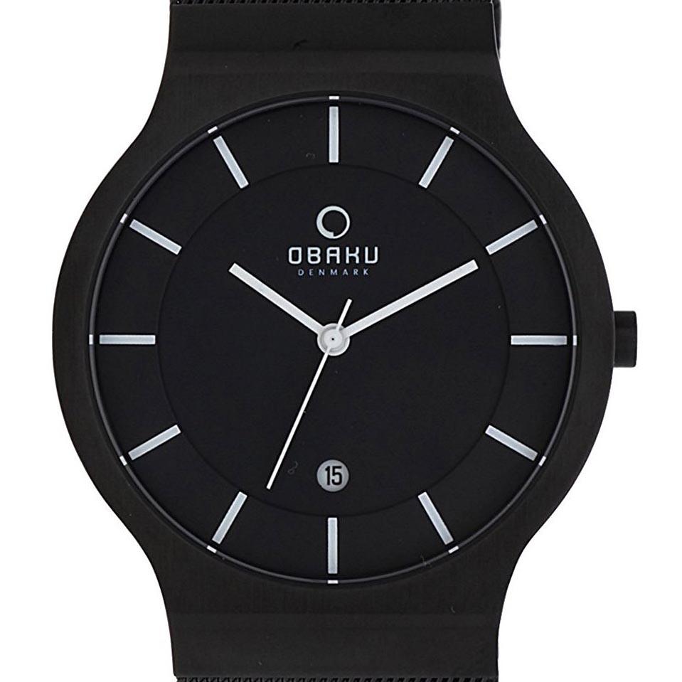 【ポイント10倍】OBAKU オバック クォーツ 腕時計 デンマーク シンプル 薄型 ファッション [V133GDBBMB] 並行輸入品 純正ケース メーカー保証