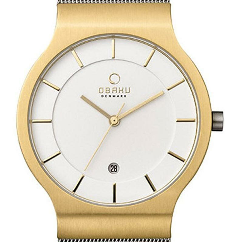 【ポイント10倍】【残り1点】OBAKU オバック クォーツ 腕時計 デンマーク シンプル 薄型 ファッション [V133GDGIMC1] 並行輸入品 純正ケース メーカー保証