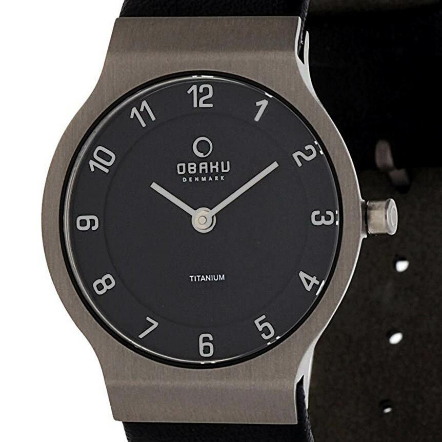 【ポイント10倍】【残り1点】OBAKU オバック クォーツ 腕時計 デンマーク シンプル 薄型 ファッション [V133LTBRB1] 並行輸入品 純正ケース メーカー保証
