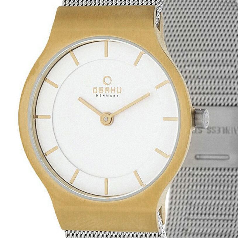 【ポイント10倍】OBAKU オバック クォーツ 腕時計 デンマーク シンプル 薄型 ファッション [V133LXGIMC] 並行輸入品 純正ケース メーカー保証
