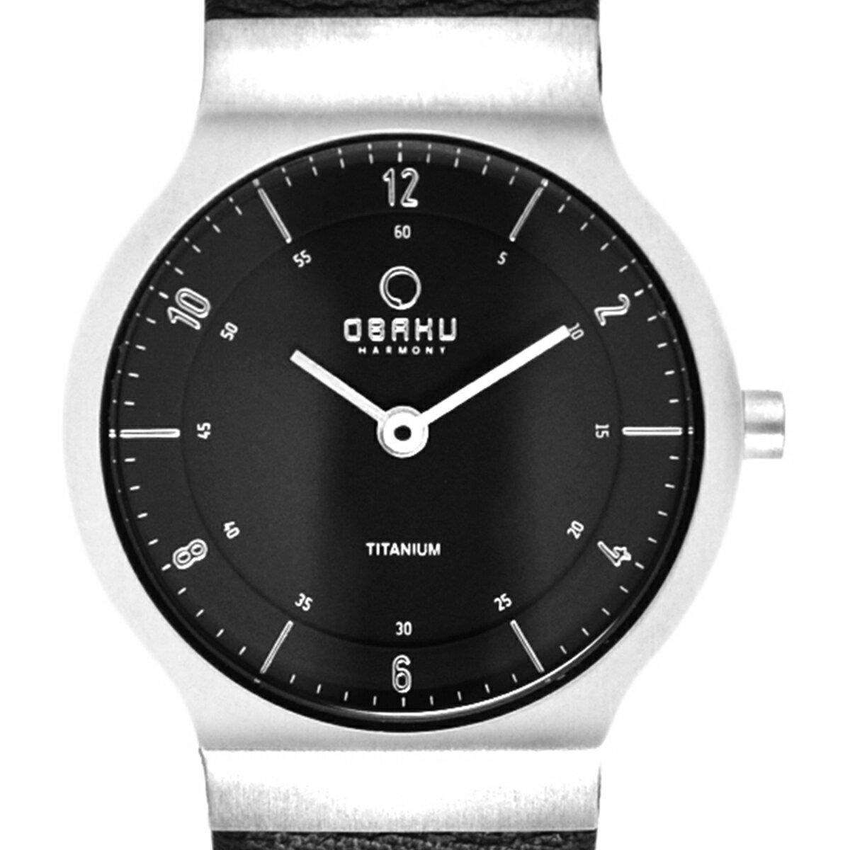 【ポイント10倍】【残り1点】OBAKU オバック クォーツ 腕時計 デンマーク シンプル 薄型 ファッション [V133STBRB] 並行輸入品 純正ケース メーカー保証