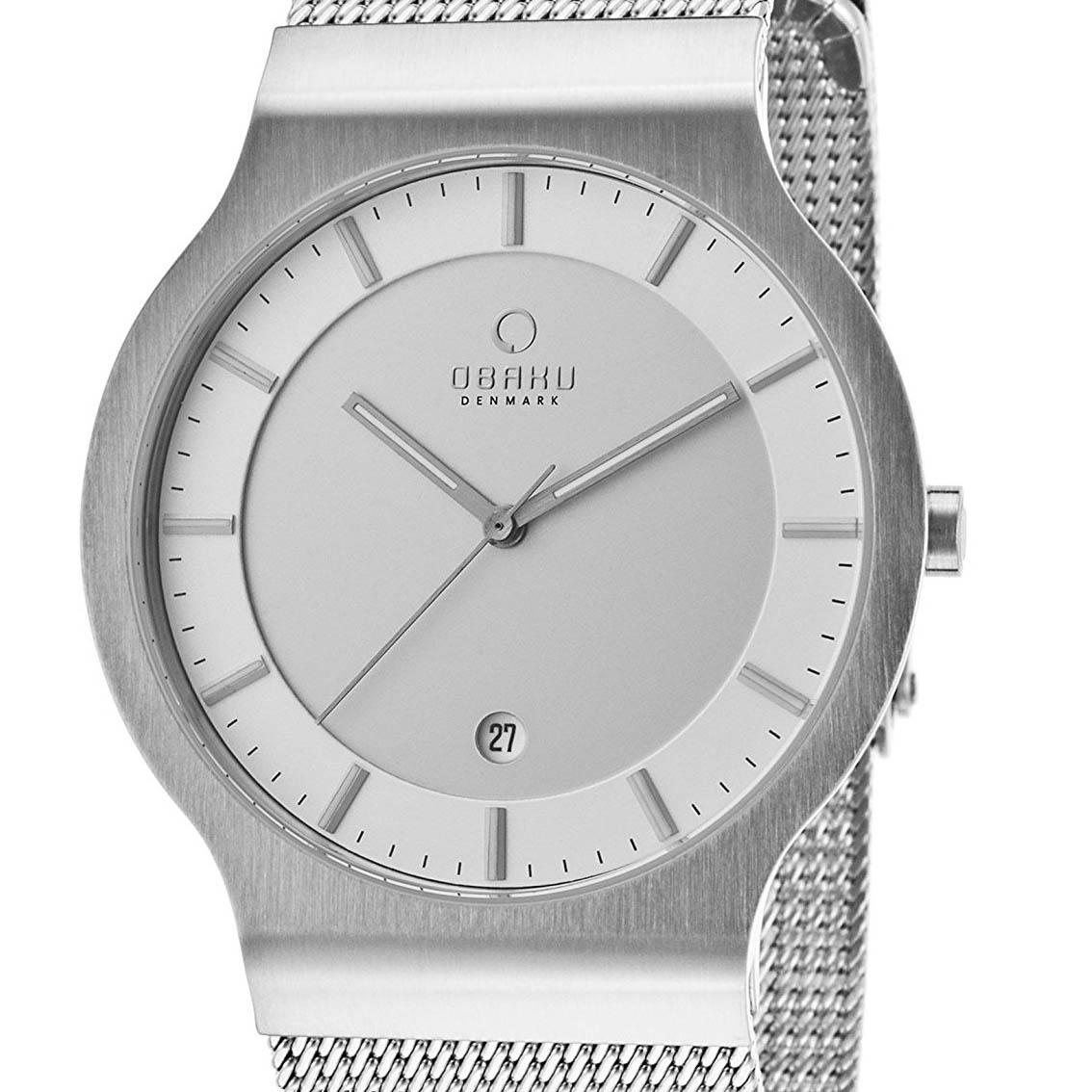【ポイント10倍】OBAKU オバック クォーツ 腕時計 デンマーク シンプル 薄型 ファッション [V133XCIMC1] 並行輸入品 純正ケース メーカー保証