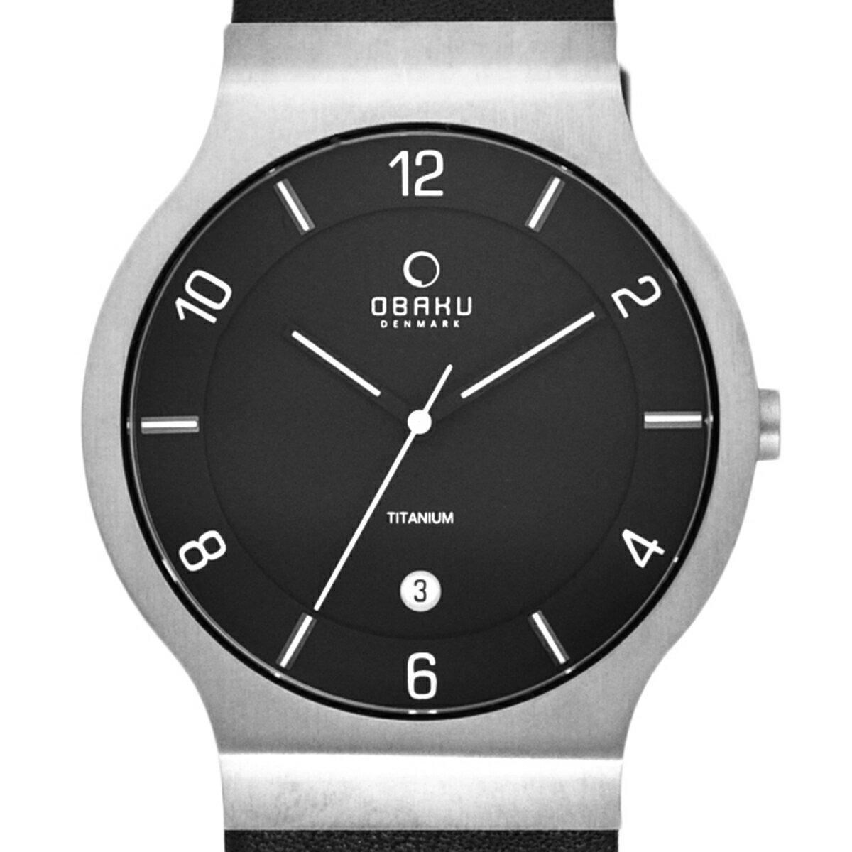 【ポイント10倍】OBAKU オバック クォーツ 腕時計 デンマーク シンプル 薄型 ファッション [V133XTBRB1] 並行輸入品 純正ケース メーカー保証