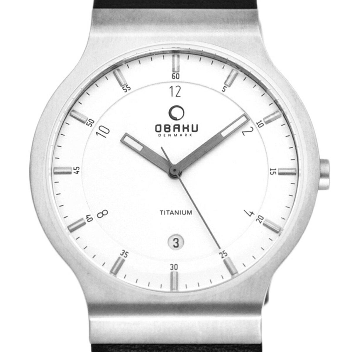 【ポイント10倍】【残り1点】OBAKU オバック クォーツ 腕時計 デンマーク シンプル 薄型 ファッション [V133XTIRB ] 並行輸入品 純正ケース メーカー保証