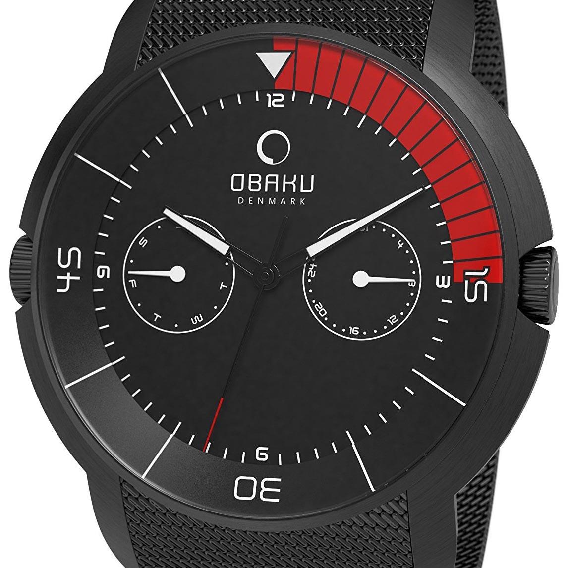 【ポイント10倍】【残り1点】OBAKU オバック クォーツ 腕時計 デンマーク シンプル 薄型 ファッション [V141GBBMB] 並行輸入品 純正ケース メーカー保証