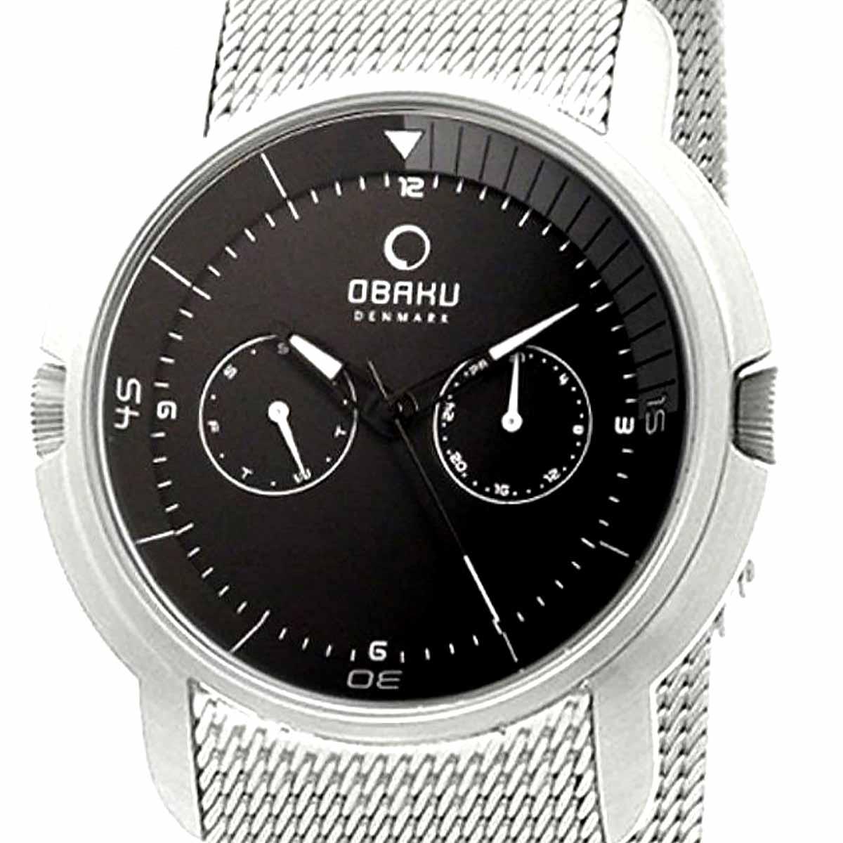 【ポイント10倍】OBAKU オバック クォーツ 腕時計 腕時計 メンズ [V141GCBMC] 並行輸入品 純正ケース メーカー保証