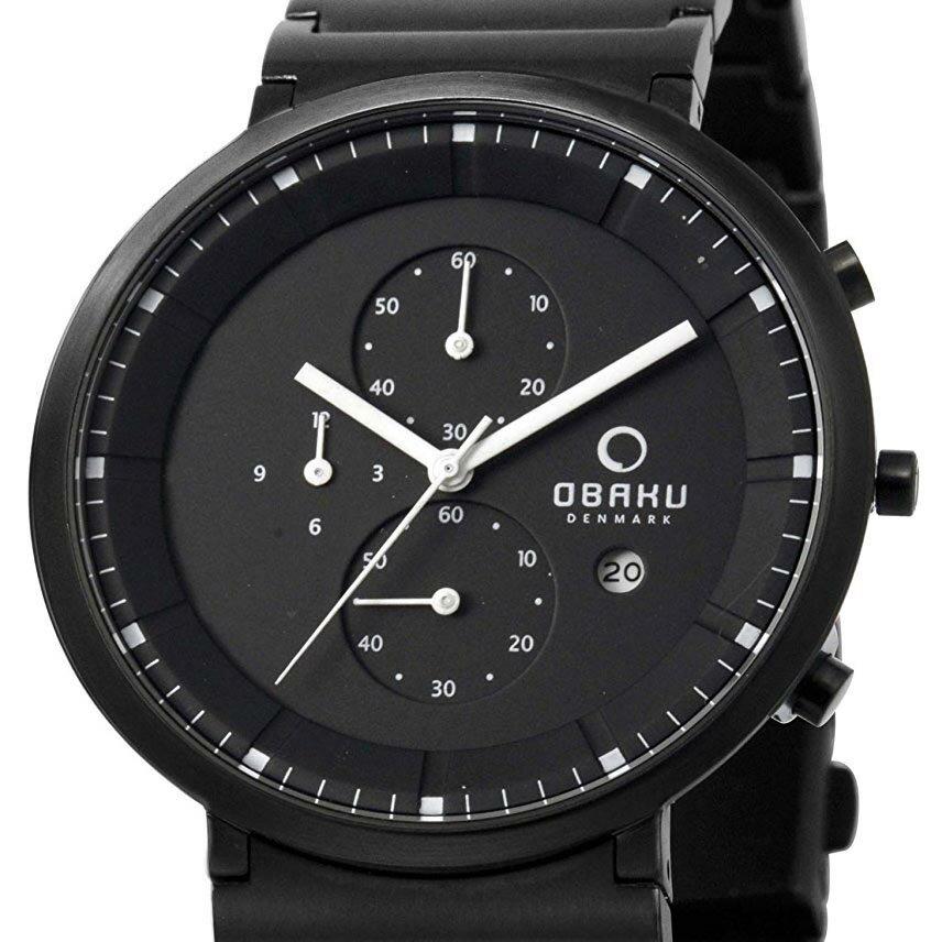 【ポイント10倍】OBAKU オバック クォーツ 腕時計 デンマーク シンプル 薄型 ファッション [V147GBBSB1] 並行輸入品 純正ケース メーカー保証