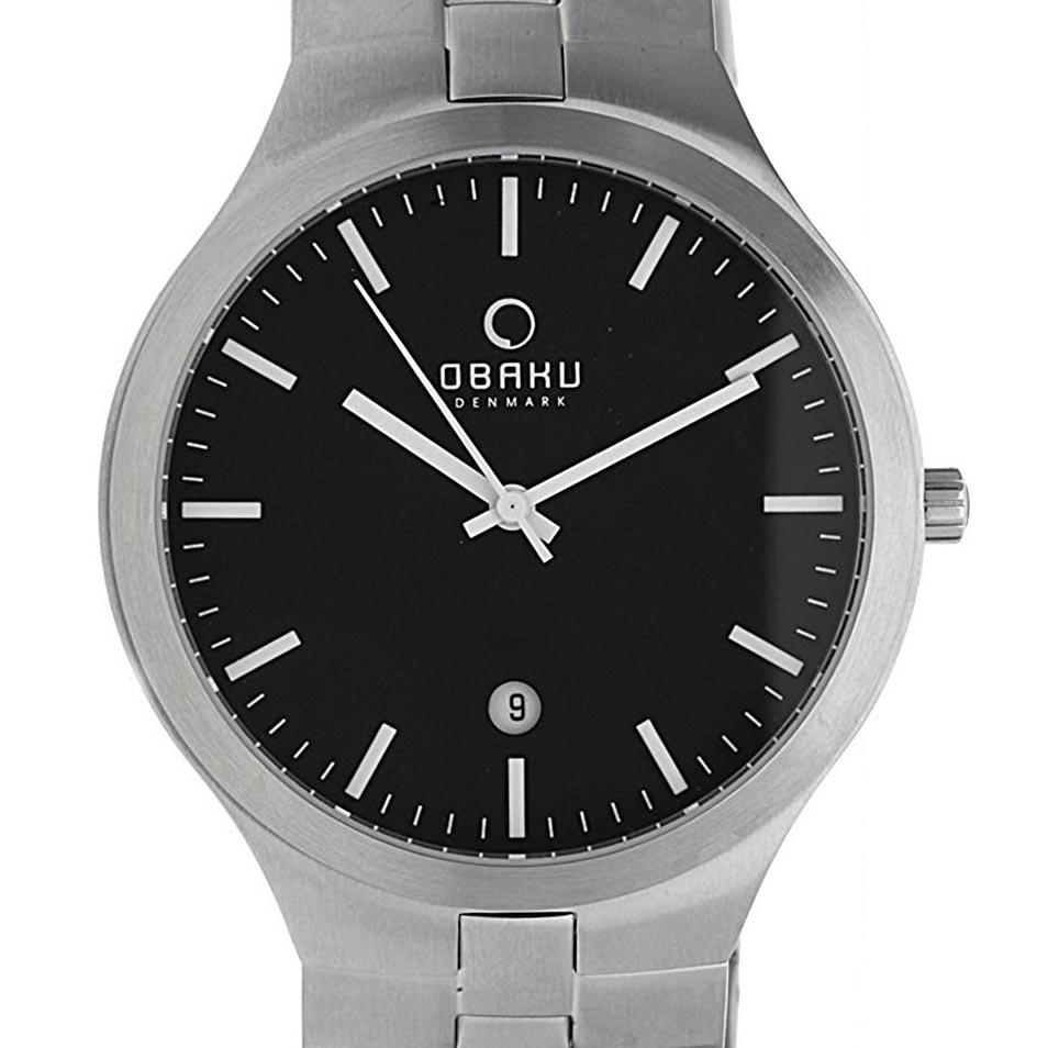 【ポイント10倍】【残り1点】OBAKU オバック クォーツ 腕時計 デンマーク シンプル 薄型 ファッション [V151GCBSCH] 並行輸入品 純正ケース メーカー保証