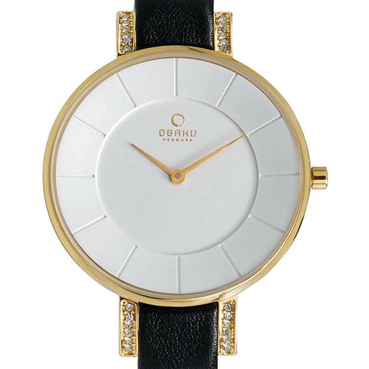 【ポイント10倍】【残り1点】OBAKU オバック クォーツ 腕時計 デンマーク シンプル 薄型 ファッション [V158LEGIRB] 並行輸入品 純正ケース メーカー保証