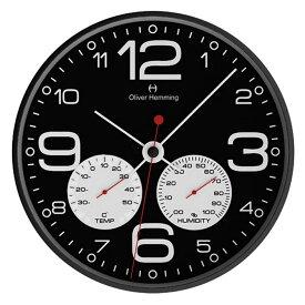 Oliver Hemming オリバー・ヘミング 壁掛け時計 インテリア Simplex Weather Station シンプレックス ウェザーステーション 300mm [W300B51BWTW] 北欧 正規品