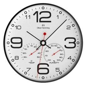 Oliver Hemming オリバー・ヘミング 壁掛け時計 インテリア Simplex Weather Station シンプレックス ウェザーステーション 300mm [W300B51WTB] 北欧 正規品