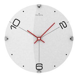 Oliver Hemming オリバーヘミング 壁掛け時計 インテリア 北欧 Vitri Domed Glass ヴィトリドームガラス 300mm [W300DG14W] 正規品