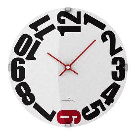 Oliver Hemming オリバーヘミング 壁掛け時計 インテリア 北欧 Vitri Domed Glass ヴィトリドームガラス 300mm [W300DG20WR] 正規品