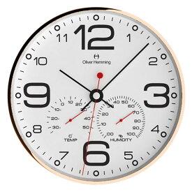 Oliver Hemming オリバー・ヘミング 壁掛け時計 インテリア Simplex Weather Station シンプレックス ウェザーステーション 300mm [W300R51WTB] 北欧 正規品