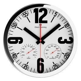 Oliver Hemming オリバーヘミング 壁掛け時計 インテリア 北欧 Duplex Weather Station デュープレックスウェザーステーション 温度計 湿度計 300mm [W303S65W] 正規品