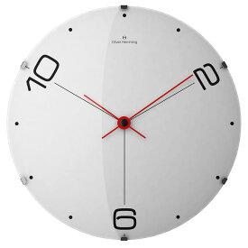 Oliver Hemming オリバーヘミング 壁掛け時計 インテリア 北欧 Vitri Domed Glass ヴィトリドームガラス 370mm [W370DG14W] 正規品