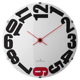 Oliver Hemming オリバーヘミング 壁掛け時計 インテリア 北欧 Vitri Domed Glass ヴィトリドームガラス 500mm [W500DG20WR] 正規品