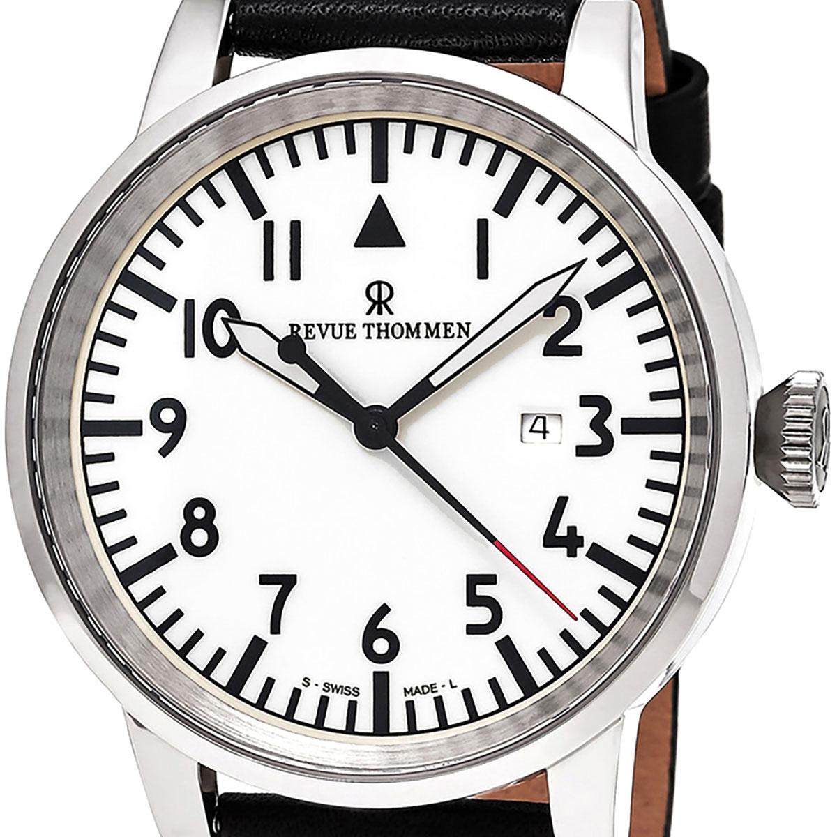 【残り1点】REVUE THOMMEN レビュートーメン 自動巻き(手巻き機能あり) 腕時計 [16053.2533] 並行輸入品 ホワイト(白)