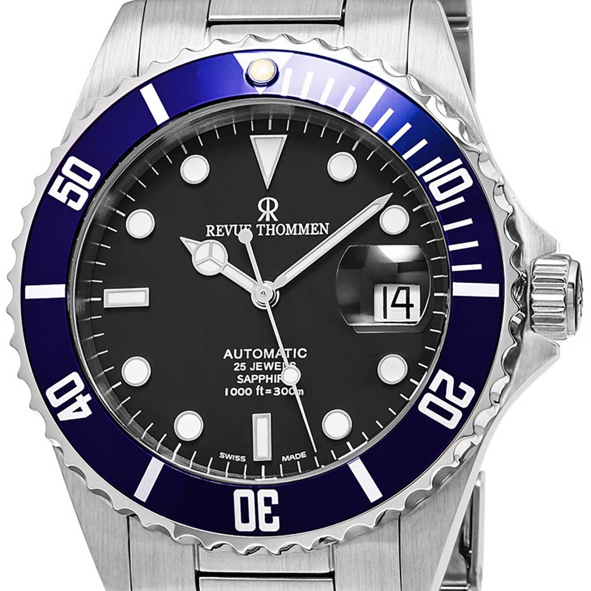 REVUE THOMMEN レビュートーメン 自動巻き(手巻き機能あり) 腕時計 [17571.2135] 並行輸入品 ブラック(黒)