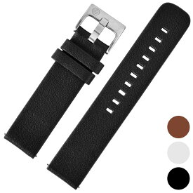 [ZEROO] 腕時計用 レザーベルト 正規品 汎用品 取付幅:20mm [ZEROO] (尾錠)ピンバックル付き [ZLB001]