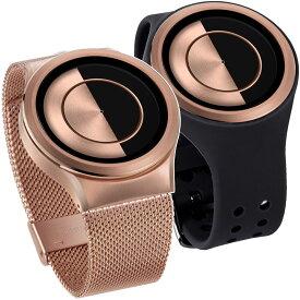 ZEROO ゼロ QUARTER MOON クォーター・ムーン 腕時計 デザイナーズウォッチ おしゃれ シンプル デザイン ファッション 個性派ウォッチ 輝く盤面 珍しい
