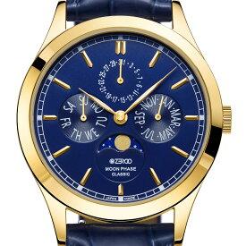 ZEROO ゼロ 電池式クォーツ 腕時計 [ZC001GBL] 並行輸入品 ムーンフェイズ カレンダー