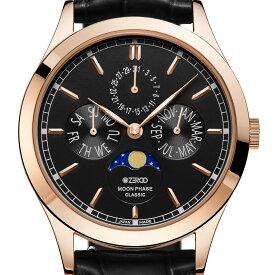 ZEROO ゼロ 電池式クォーツ 腕時計 [ZC001RBK] 並行輸入品 ムーンフェイズ カレンダー