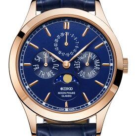 ZEROO ゼロ 電池式クォーツ 腕時計 [ZC001RBL] 並行輸入品 ムーンフェイズ カレンダー