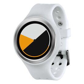 ZEROO COLORED TIME ゼロ 電池式クォーツ 腕時計 [W00101B01SR01] ホワイト デザインウォッチ ペア用 メンズ レディース ユニセックス おしゃれ時計 デザイナーズ