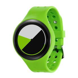 ZEROO COLORED TIME ゼロ 電池式クォーツ 腕時計 [W00104B03SR05] グリーン デザインウォッチ ペア用 メンズ レディース ユニセックス おしゃれ時計 デザイナーズ