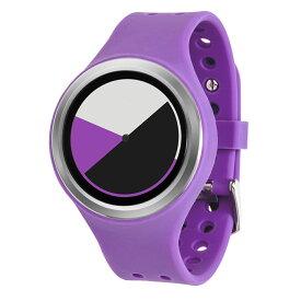 ZEROO COLORED TIME ゼロ 電池式クォーツ 腕時計 [W00105B01SR08] パープル デザインウォッチ ペア用 メンズ レディース ユニセックス おしゃれ時計 デザイナーズ