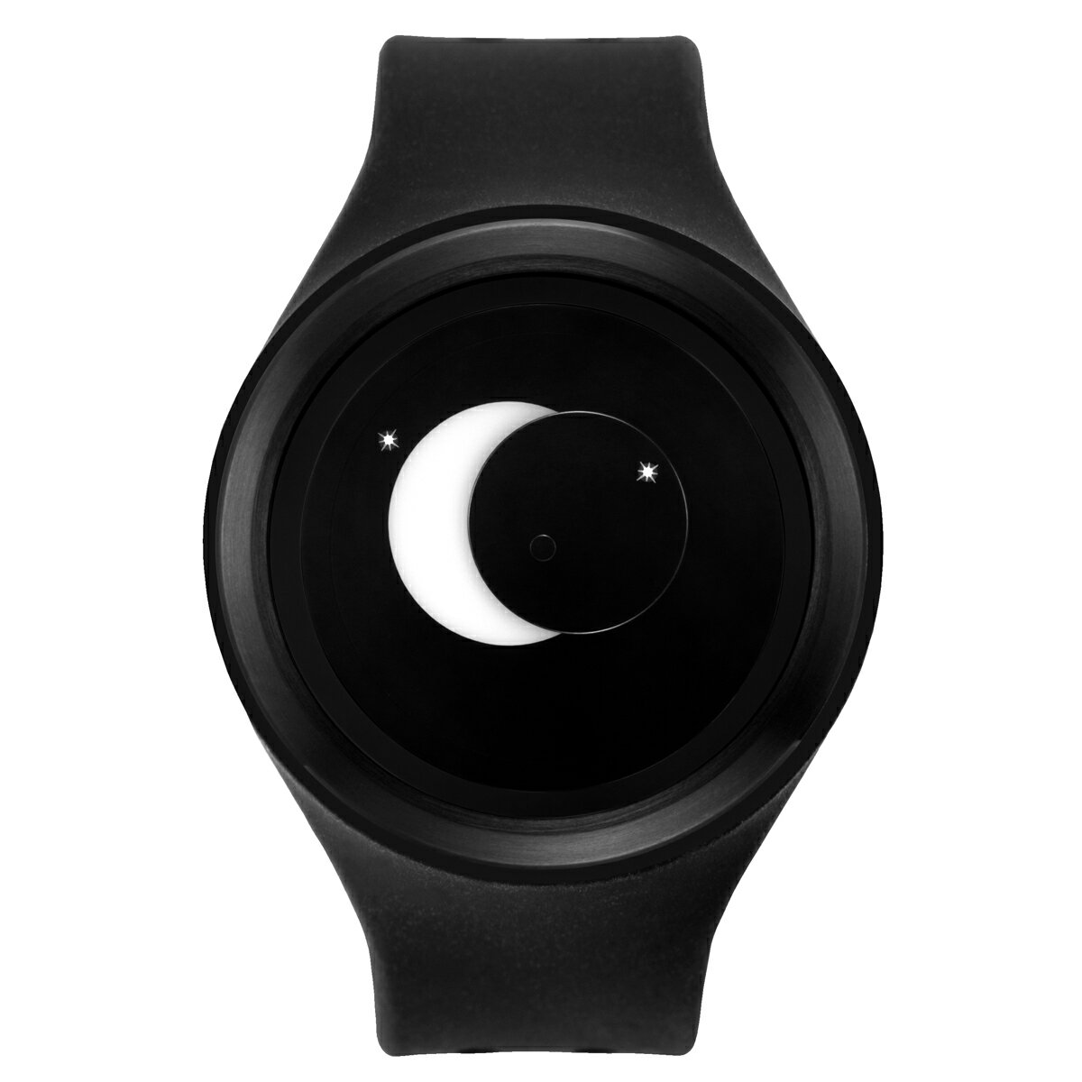 ZEROO SUPER MOON ゼロ 電池式クォーツ 腕時計 [W00202B03SR02] ブラック デザインウォッチ ペア用 メンズ レディース ユニセックス おしゃれ時計 デザイナーズ
