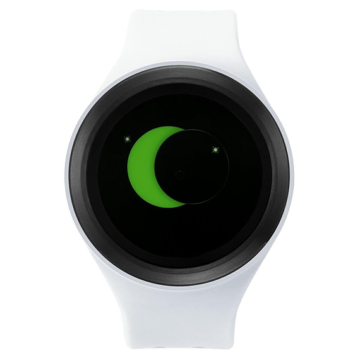 ZEROO SUPER MOON ゼロ 電池式クォーツ 腕時計 [W00203B03SR01] ホワイト デザインウォッチ ペア用 メンズ レディース ユニセックス おしゃれ時計 デザイナーズ