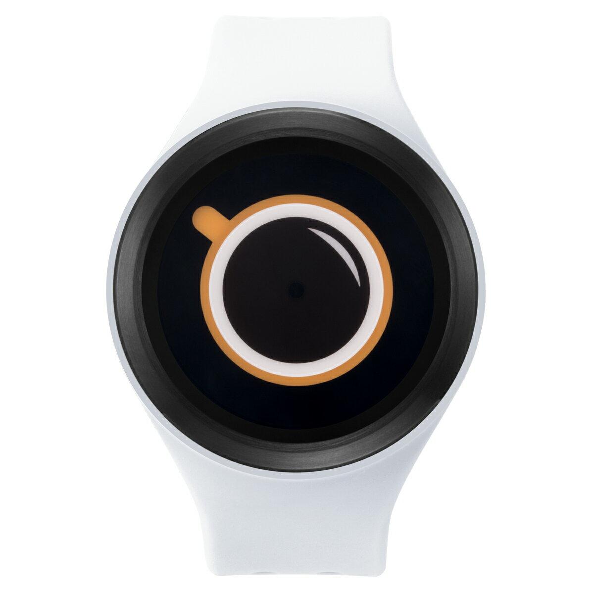 ZEROO COFFEE TIME ゼロ 電池式クォーツ 腕時計 [W00301B03SR01] ホワイト デザインウォッチ ペア用 メンズ レディース ユニセックス おしゃれ時計 デザイナーズ
