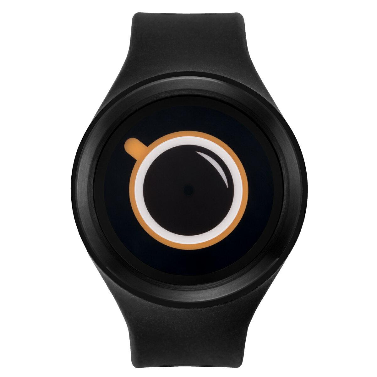 ZEROO COFFEE TIME ゼロ 電池式クォーツ 腕時計 [W00301B03SR02] ブラック デザインウォッチ ペア用 メンズ レディース ユニセックス おしゃれ時計 デザイナーズ