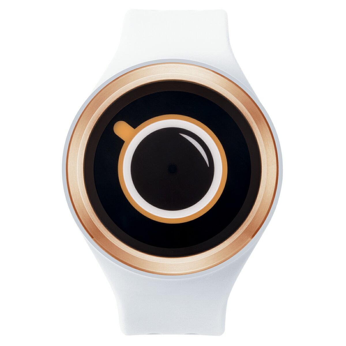ZEROO COFFEE TIME ゼロ 電池式クォーツ 腕時計 [W00301B05SR01] ホワイト デザインウォッチ ペア用 メンズ レディース ユニセックス おしゃれ時計 デザイナーズ