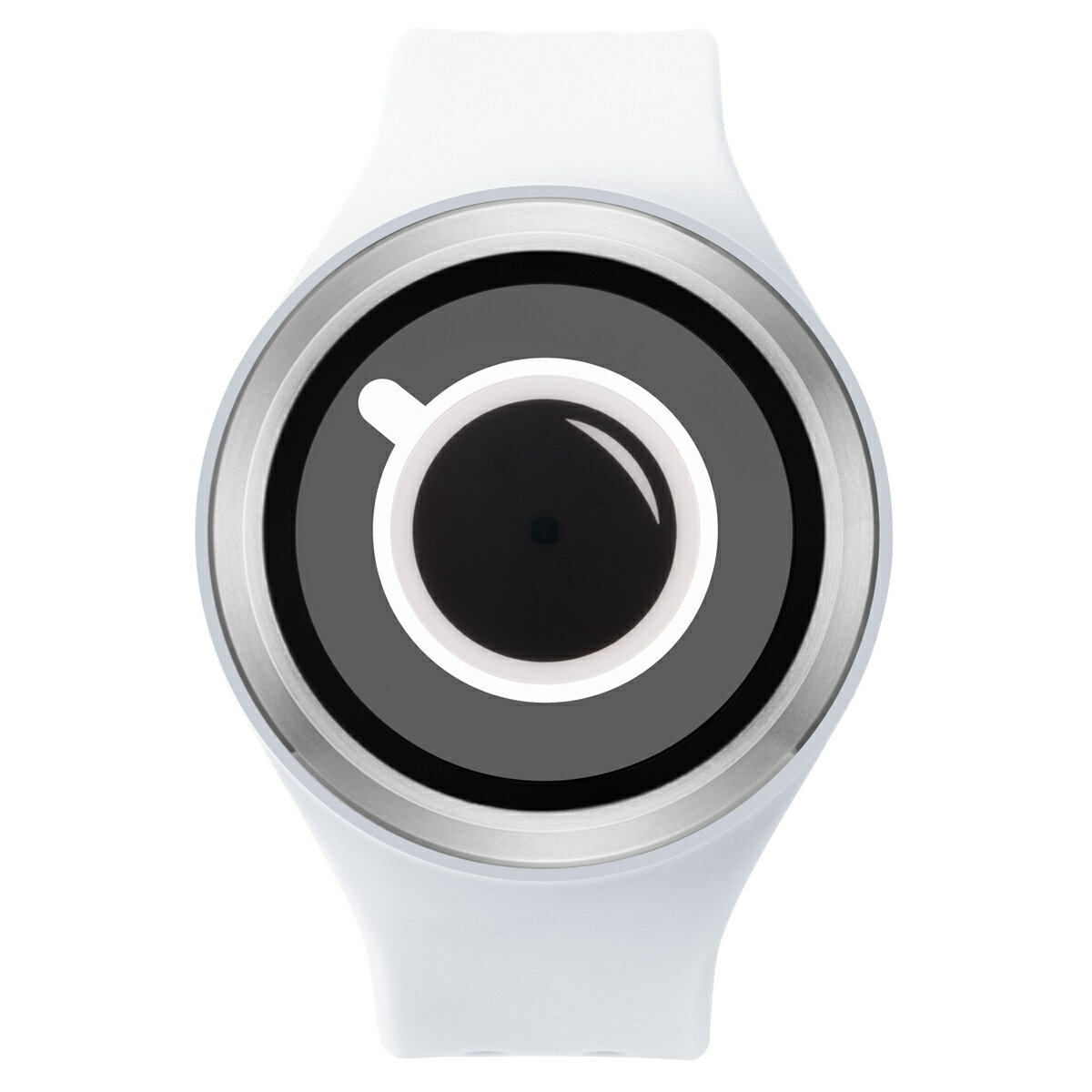 ZEROO COFFEE TIME ゼロ 電池式クォーツ 腕時計 [W00302B01SR01] ホワイト デザインウォッチ ペア用 メンズ レディース ユニセックス おしゃれ時計 デザイナーズ
