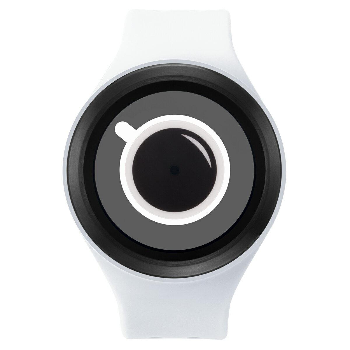 ZEROO COFFEE TIME ゼロ 電池式クォーツ 腕時計 [W00302B03SR01] ホワイト デザインウォッチ ペア用 メンズ レディース ユニセックス おしゃれ時計 デザイナーズ