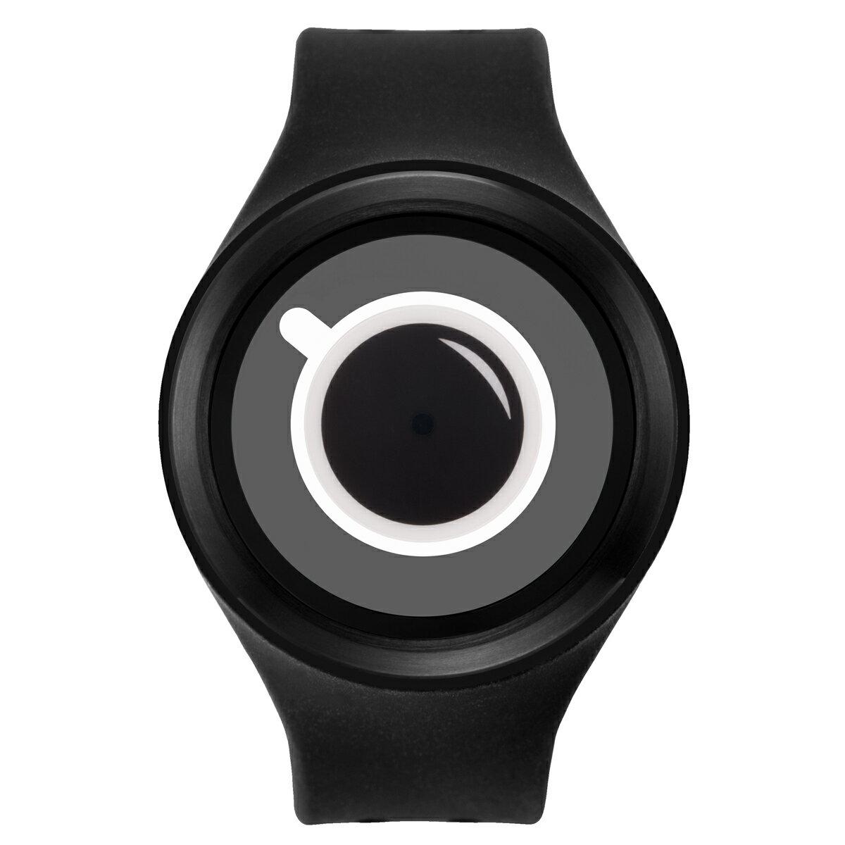 ZEROO COFFEE TIME ゼロ 電池式クォーツ 腕時計 [W00302B03SR02] ブラック デザインウォッチ ペア用 メンズ レディース ユニセックス おしゃれ時計 デザイナーズ
