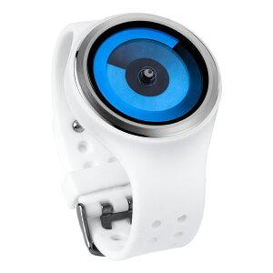 ZEROOSPIRALGALAXYゼロ電池式クォーツ腕時計[W00601B01SR01]ホワイトデザインウォッチペア用メンズレディースユニセックスおしゃれ時計デザイナーズ