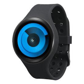 ZEROO SPIRAL GALAXY ゼロ 電池式クォーツ 腕時計 [W00601B03SR02] ブラック デザインウォッチ ペア用 メンズ レディース ユニセックス おしゃれ時計 デザイナーズ